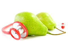 Pears and stethoscope Royalty Free Stock Photo