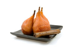 Pears stew in oven Stock Photos