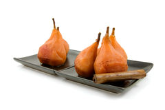 Pears stew in oven Royalty Free Stock Photos
