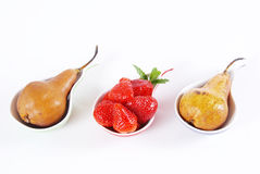 Pears and strawberry Royalty Free Stock Photography