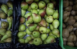 Pears in super market royalty free stock image