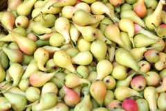 Pears in supermarket. Pile of pears in supermarket royalty free stock photos