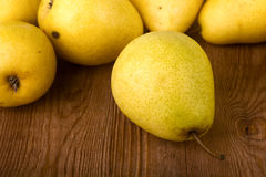 Pears on table Royalty Free Stock Photo