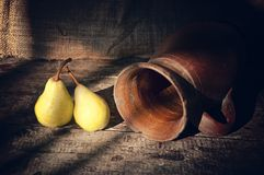 Pears on table Stock Photo