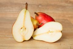 View of the Pears / Fresh seasonal fruits Stock Images