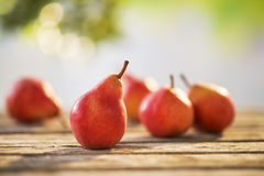 Pears on table Royalty Free Stock Image