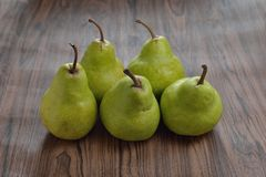 Pears on table Stock Photos