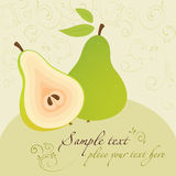 Pears. Template for Design Royalty Free Stock Photo
