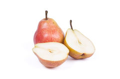 Pears And Two Halves Royalty Free Stock Photo