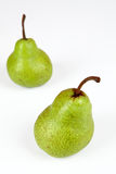 Pears. Two pears with white background Royalty Free Stock Photo