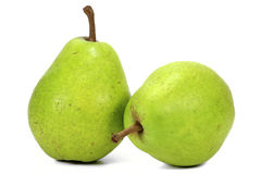 Pears. Variety Alexander Lucas - isolated on white background stock photography