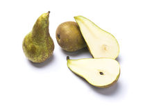 Pears of a variety called conference. On a white background Stock Photos