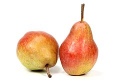 Pears. (variety Red Bartlett) isolated on white background Stock Photography