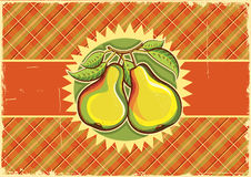Pears vintage label background Stock Image