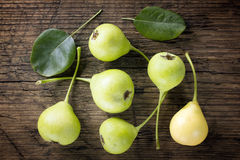 Pears on vintage wooden table Royalty Free Stock Photography