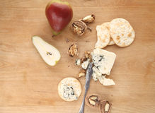 Pears, walnuts and blue cheese Royalty Free Stock Image