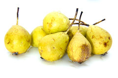 Pears wet Stock Images