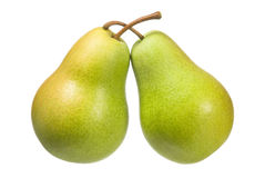 Pears on white Stock Photos