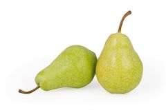 Pears on white. Background with clipping path royalty free stock photos