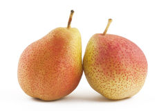 Pears on white background. Two ripe pears on white background Stock Image
