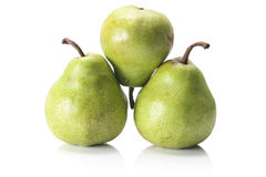 Pears on White Background. Pears on Isolated White Background Royalty Free Stock Photo