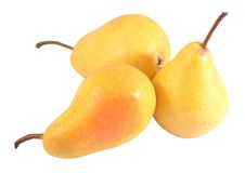 Pears on a white Stock Photography