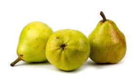 Pears on a white background. Royalty Free Stock Images