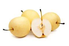 Pears  on White Background Stock Photos