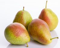 Pears on white background, closeup. Group of pears  on white background, closeup Royalty Free Stock Images