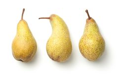 Pears  on White Background Stock Photo
