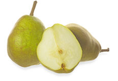 Pears in a white background Stock Photos