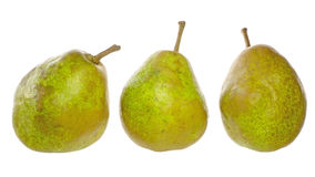 Pears in a white background Royalty Free Stock Photography