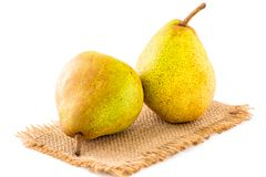 Pears on white background Stock Images