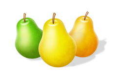 Pears on white Royalty Free Stock Images
