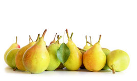 Pears on white. Photo taken on 1 August 2014. Royalty Free Stock Photography