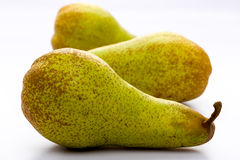 Pears. On a white plate Stock Photo