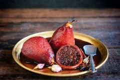 Pears in the wine Royalty Free Stock Images