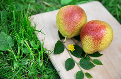 Pears on wood Royalty Free Stock Photography