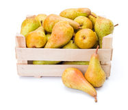 Pears in wooden box Stock Photography