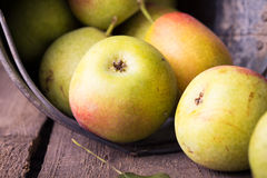 Pears on a wooden table Stock Image