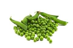 Peas. Green peas isolated on white Stock Photo