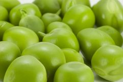 Peas. Very close image of fresh peas Royalty Free Stock Photography