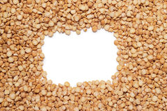 Peas background and copy space in the middle Royalty Free Stock Images