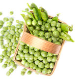 Peas in a basket Royalty Free Stock Photo