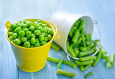 Peas and bean Stock Photography