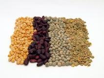 Peas, bean and lens Stock Photo