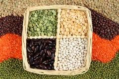 Peas, beans, lentils Stock Images