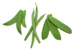 Peas, Beans and Mangetout Stock Images