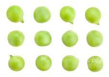Peas beans. Path isolated on wnite royalty free stock photos