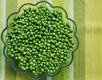 Peas in a bowl royalty free stock photos